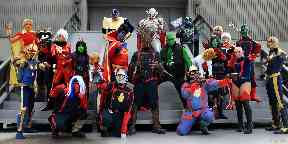 Comic book characters will be out in force this year.