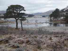 A chilly scene at Loch Tulla at Bridge of Orchy.