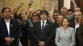 Carles Puigdemont and members of his cabinet could be charged with usurping the power of Madrid.