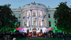 The White House had a haunted look for Halloween.