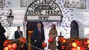 Halloween: The White House was transformed.