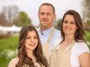 Sophie Faldo (right) beat her rivals to the Great British Bake Off crown