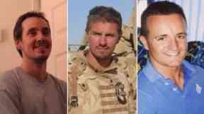 L-R: Lance Corporal Edward Maher, Corporal James Dunsby and Lance Corporal Craig Roberts.