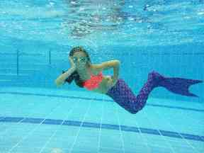 Children can have their photograph taken underwater during the session.