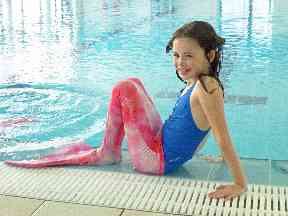 Lindsay launched the mermaid classes to keep children interested in swimming.