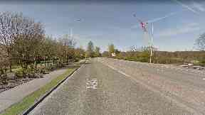 A947: The man was walking near the Stoneywood roundabout.