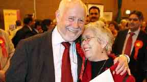 Labour MP Kelvin Hopkins with his wife Patricia.