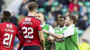 Jack Hendry and Anthony Stokes clashed at Easter Road.