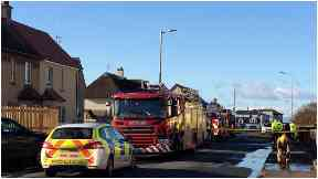Blaze: Two men have died after house fire in Troon.