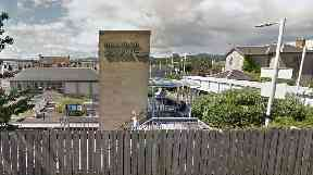 Markinch Station: The runaway train travelled for four miles.