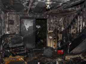 Police said the home was gutted by the fire.