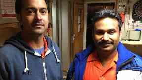 Going home: Captain Ashish Prabhakar (left) and Vijay Kumar.