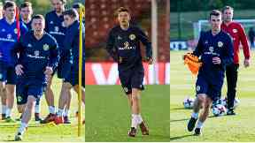 Callum McGregor (left), Ryan Christie (centre) and Ryan Jack (right) will make their debuts against Holland.