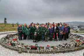 Female veterans reunined at Spean Bridge near Fort William.