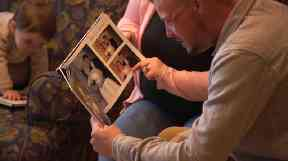 Lilly showed Andy photos of cherished moments with her late husband.