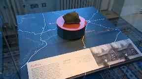 Exhibition: Fragments weigh two stone altogether.