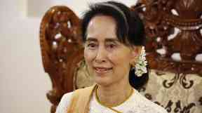 Aung San Suu Kyi was awarded the Freedom of the City of Dublin in 2000.