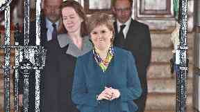 Aide: Liz Lloyd, left, accompanied Nicola Sturgeon to the US earlier this year.