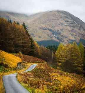 Golden path from Glen Etive.