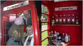 The Wee Bar: Phone box was bought for £1.