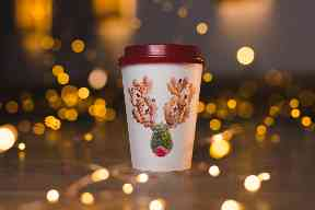 A festive reindeer made of food is Pret's design of choice.