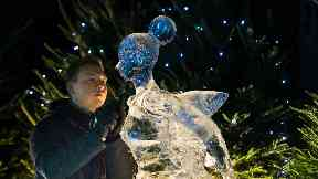 Ice: City's lights will be switched on this Sunday.
