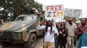 Thousands of people have rallied against Robert Mugabe.