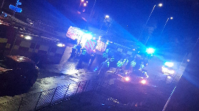 Linthaugh Road: Emergency services attended scene on Friday night.