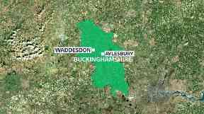 The crash occurred near the village of Waddesdon
