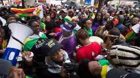 Huge crowds have been calling on Mr Mugabe to go.