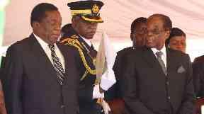 Emmerson Mnangagwa and Robert Mugabe at a gathering in early November.