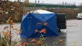 Travelodge: Tent was erected in car park.