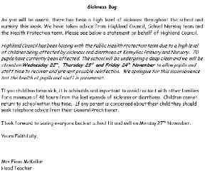 Letter: Parents have been alerted.