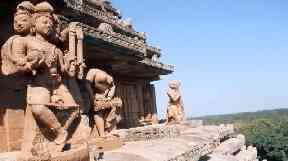 All in a day's work: Mr Jones has repaired the Konark Sun Temple in India.