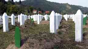 The Potocari Memorial Center near Srebrenica, the cemetery of identified Bosniak civilians killed in 1995.