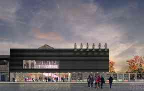 Future: An artist's impression of how the new theatre will look.