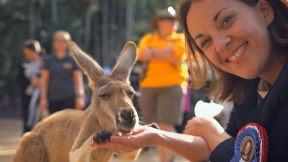 Kangaroo: Kezia had the other contestants eating out the palm of her hand.