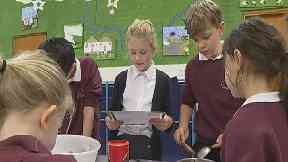 Baking: The pupils at Glenlivet Primary tried out Theresa May's recipe.