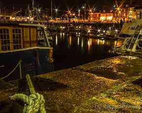 Arbroath harbour on a November evening.