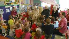 Story time at Little Deers Nursery.