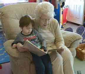 Toddlers and residents have been making new friends.