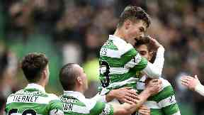 Doubts: Mikael Lustig and Nir Bitton may not be celebrating together on Sunday.