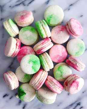 Strawberry and Champagne and gin and tonic macarons are on the bakery's menu.