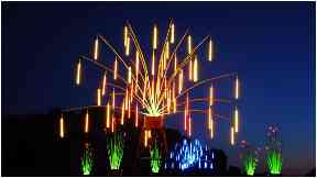 Lights: Visitors will be treated to a spectacular show.