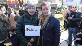 Actress Emma Thompson with Richard Ratcliffe.
