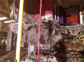 The collapse left 22 people with various injuries.