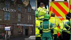 Buckie: Pub was cordoned off by police.