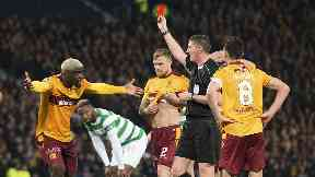 Cedric Kipre was shown a straight red card in the League Cup final.