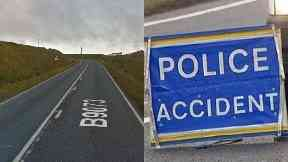 Shetland: Road closed for more than six hours.