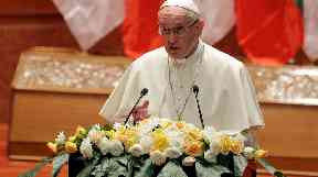 Pope Francis had been warned against using the word 'Rohingya'.